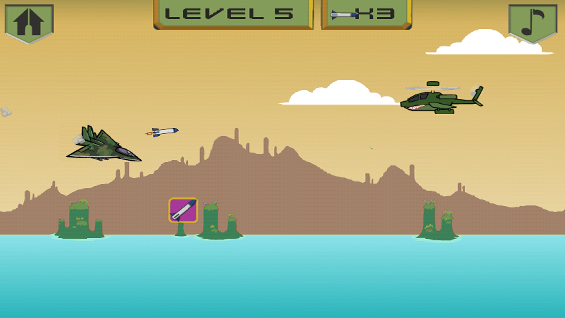Screenshots of Airplane War Games for iPhone