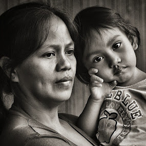 Mother and child by Jerome Mojica - People Family (  )