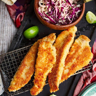 Catfish Tacos With Chipotle Slaw.