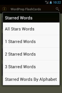 GRE WordPrep Vocab Flashcards- screenshot thumbnail