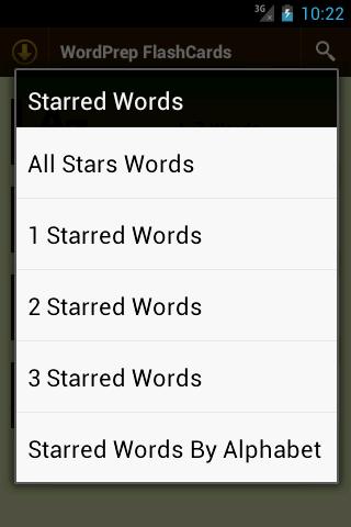 GRE WordPrep Vocab Flashcards- screenshot