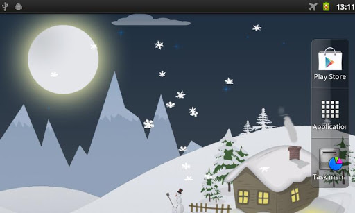 Real winter day Live Wallpaper