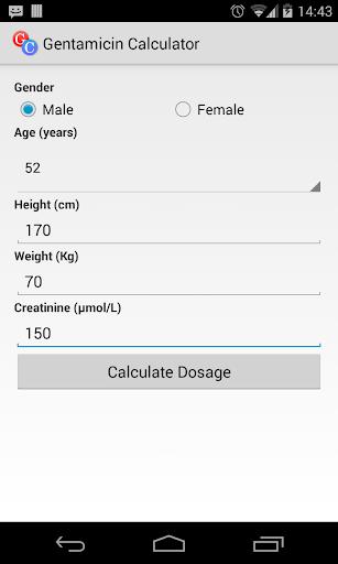 Gentamicin Calculator