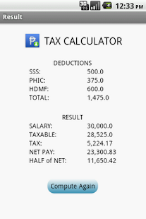 Tax Calculator - screenshot thumbnail