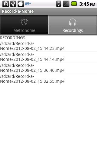 Record-a-Nome: Metronome/Rec. - screenshot