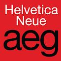 Helvetica Neue FlipFont logo