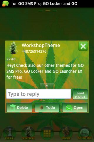 GO SMS Theme WEED GANJA- screenshot