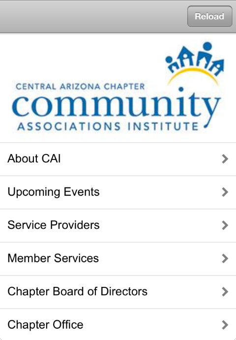 CAI Central Arizona Chapter - screenshot