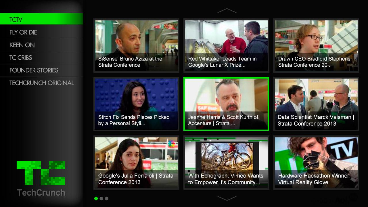 TechCrunch for Google TV- screenshot