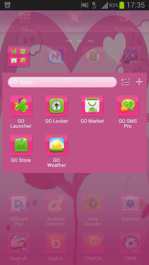 GO Launcher EX Theme Valentine - screenshot