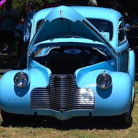 1940 Chevy by Ed Hanson - Transportation Automobiles ( car, blue, hood, chevy, classic )