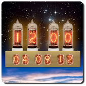 Nixie Tube Clock Widget