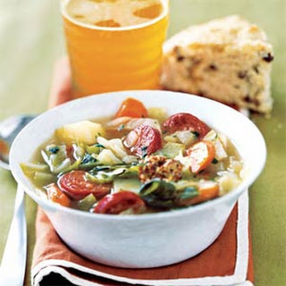 Sausage and Cabbage Soup.