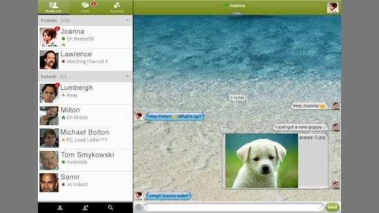 Beejive for Yahoo Messenger - screenshot thumbnail