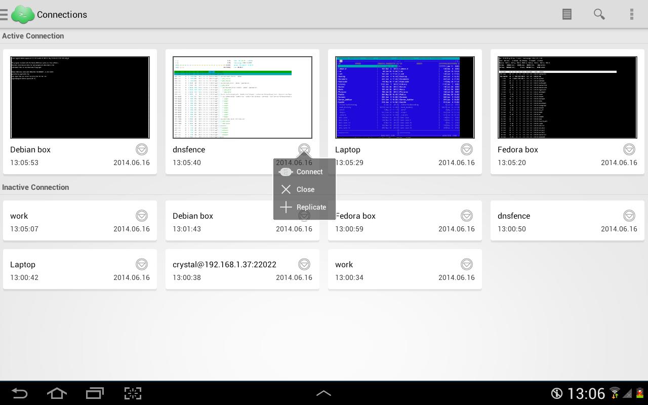 Serverauditor - SSH client - screenshot