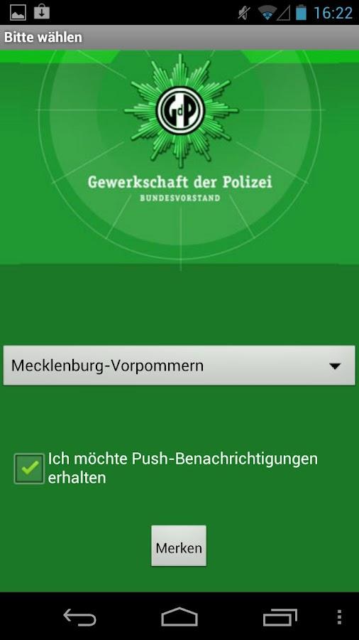 Gewerkschaft der Polizei (GdP)- screenshot