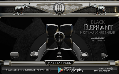 Next Launcher Theme Black Elephant APK screenshot thumbnail 3