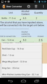 Alcohol & Beer Converter Screenshot 2