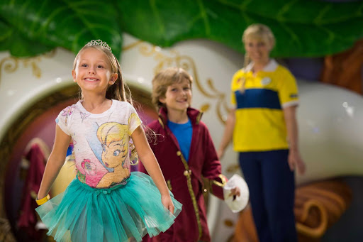Disney-Magic-Oceaneer-Club-Pixie Hollow - Little girls can dress up as a fairy princess and boys can transform into a wizard, among other kids' activities, in the Pixie Hollow section of the staff-supervised Oceaneer Club on Disney Magic.