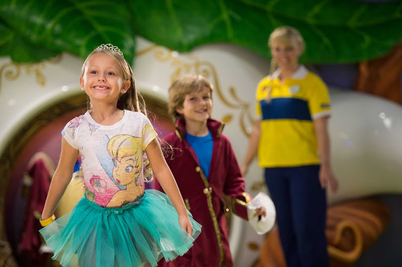 If your little ones ...  can dress up as a fairy princess and boys can transform into a wizard, among other kids' activities, in the Pixie Hollow section of the staff-supervised Oceaneer Club on Disney Magic.