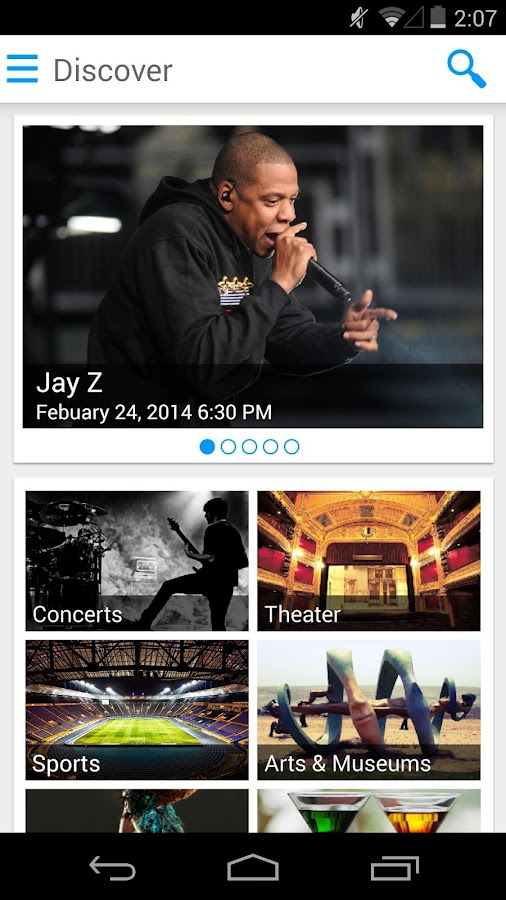 eventseeker - events, concerts - screenshot