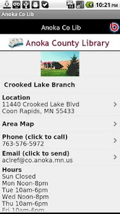 Anoka Co Lib- screenshot thumbnail