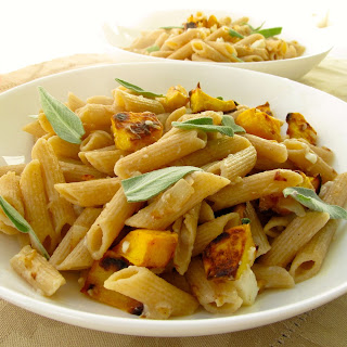 Butternut Squash Sage and Goat cheese Pasta.