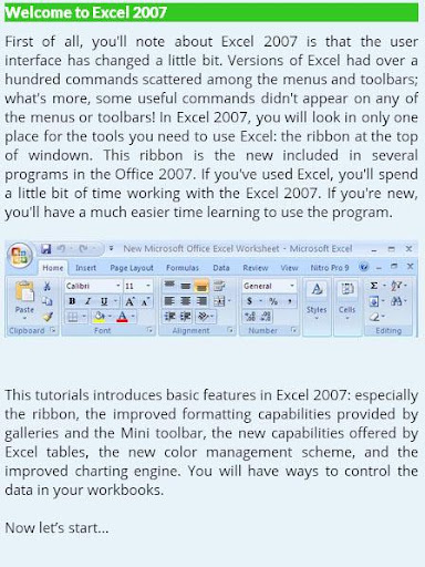 MS Excel Learning Basic