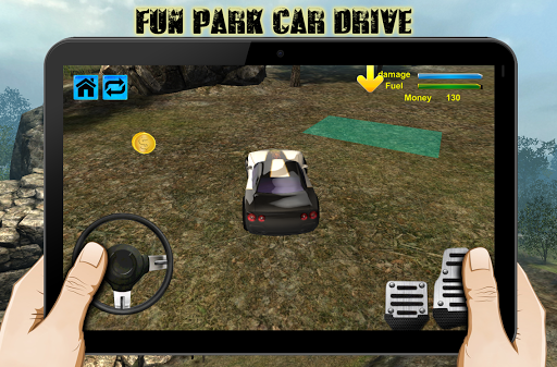 楽しい公園車のドライブシミュレーション