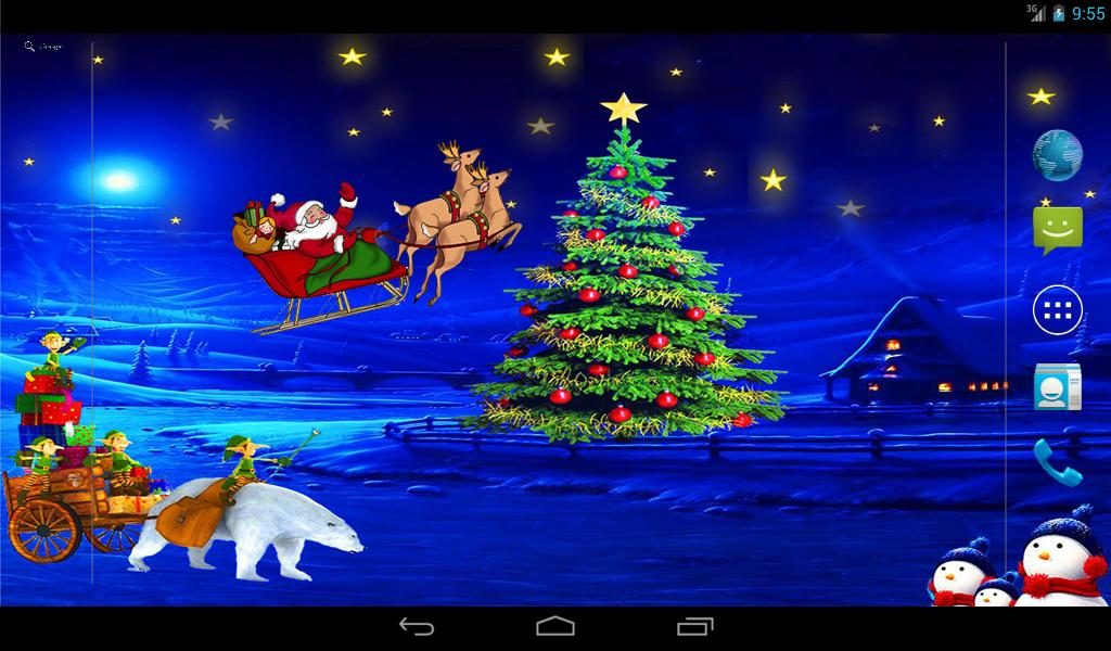 Christmas Night Live Wallpaper- screenshot