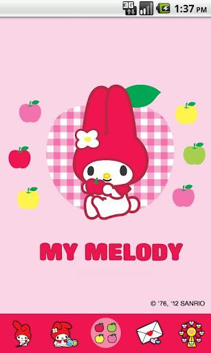 My Melody Four Apple Theme