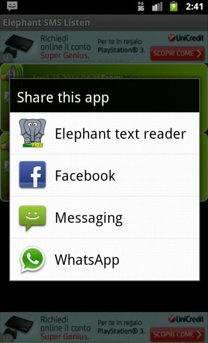 Elephant SMS Listen- screenshot