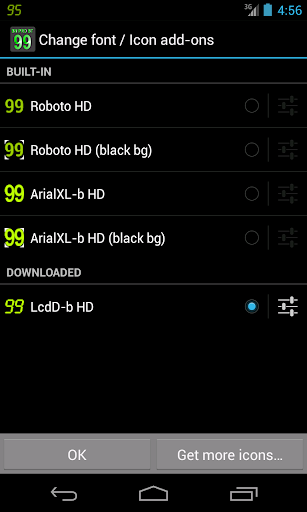 BN Pro LcdD-b HD Text screenshot for Android