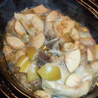 Slow Cooker Apple Pork Chops.