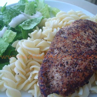 Lemon Pepper Chicken and Pasta.