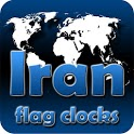 Iran flag clocks icon