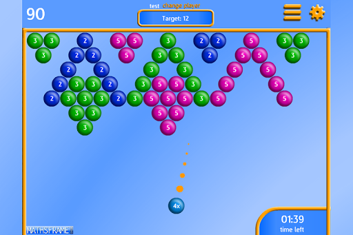 Bubble Pop Multiplication Free