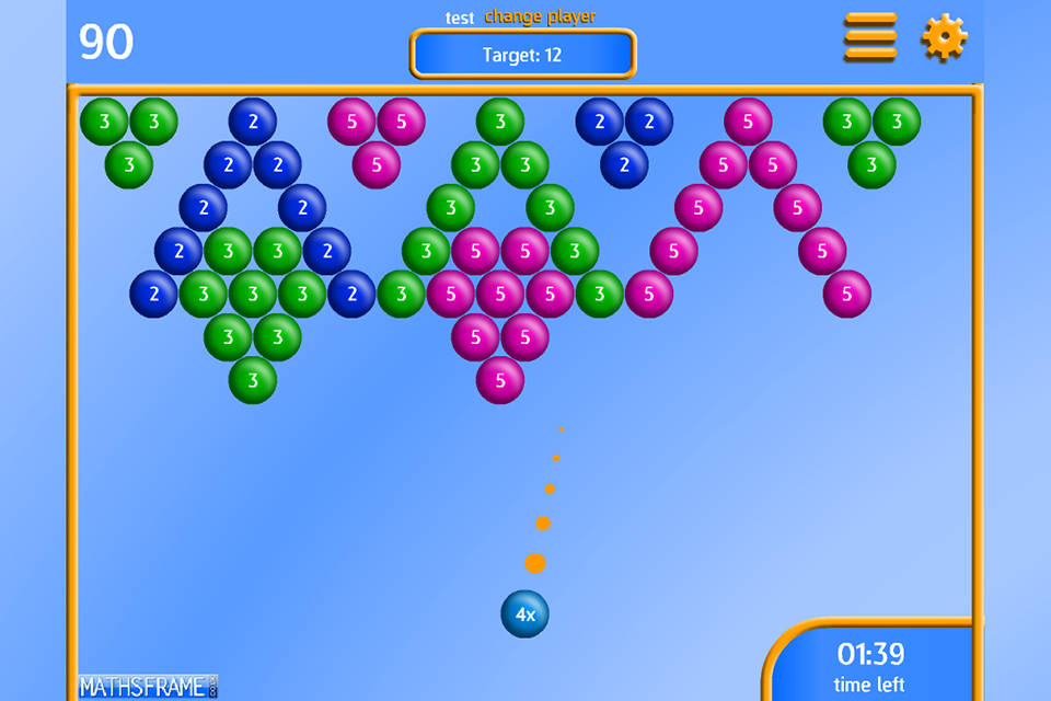 Bubble Pop Multiplication Free- screenshot