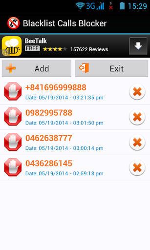 BLACKLIST CALLS AND SMS BLOCK