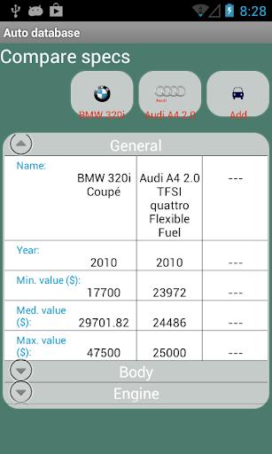 Auto database app