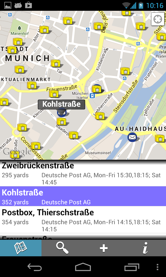 Find Postboxes - screenshot