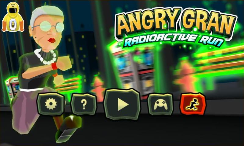 Angry Gran RadioActive Run - screenshot