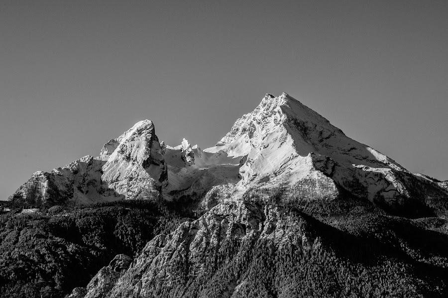 The Watzmann by Stuart Byles - Landscapes Mountains & Hills ( twin, mountain, bavaria, watzmann, peaks, berchtesgaden,  )