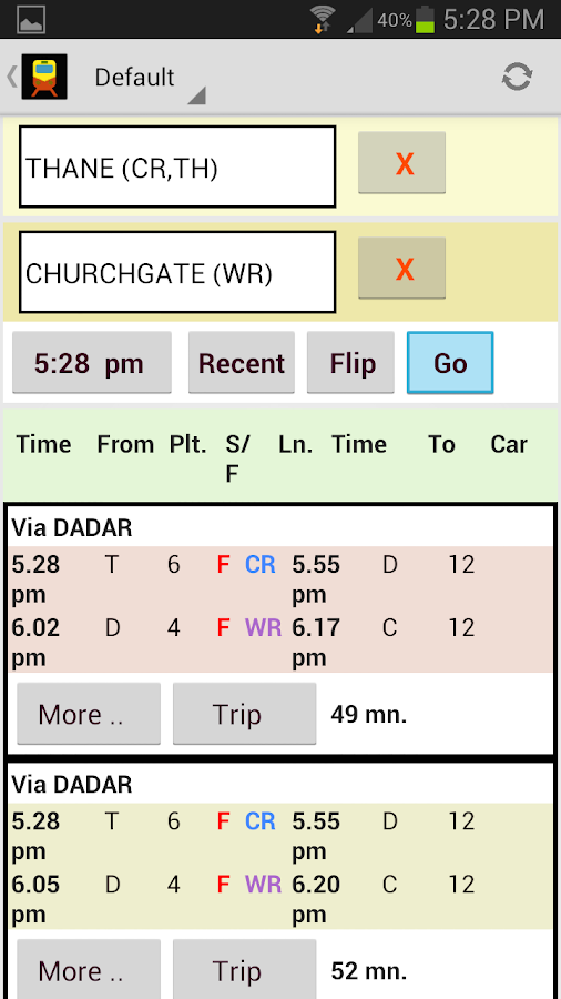 Mumbai Local Train SmartShehar - screenshot