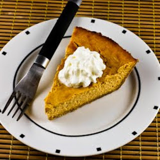 Low-Sugar Pumpkin Cheesecake Pie.