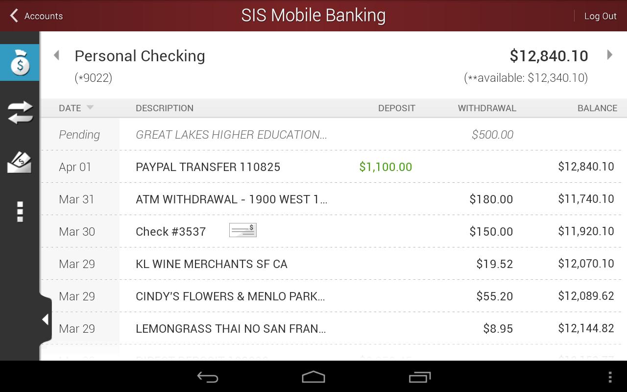 SIS Mobile Banking - screenshot