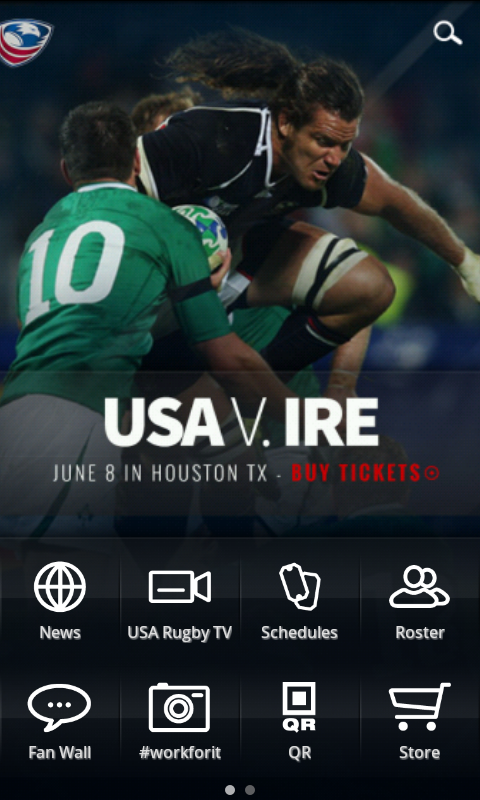 USA Rugby- screenshot