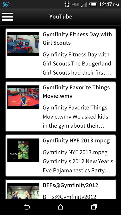 Gymfinity- screenshot