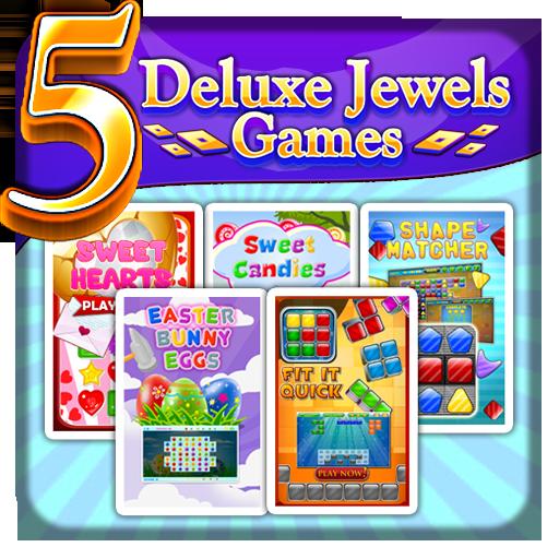 5 Deluxe Jewels Games