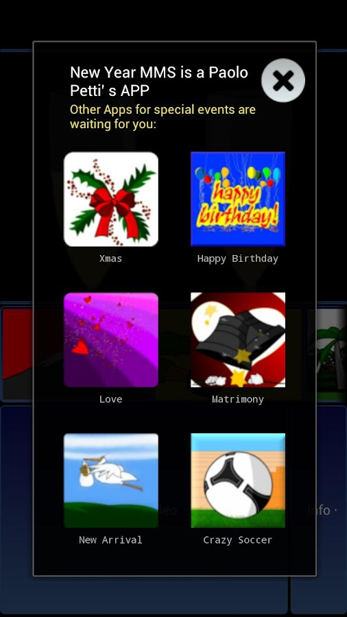 New Year MMS - screenshot